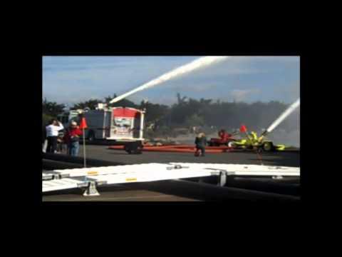 Hytrans HVP mobile high volume fire pump of the Berkeley Fire Department