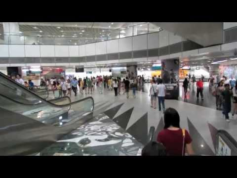 The interchange at NS24/NE6/CC1 Dhoby Ghaut MRT station