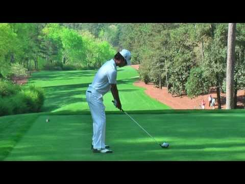 Kevin Na and YE Yang hitting drivers down 11 on Practise day at The Masters 2013