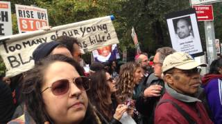 """NYC """"Rise up October"""" Oct. 24, 2015 honors victims of police killings"""