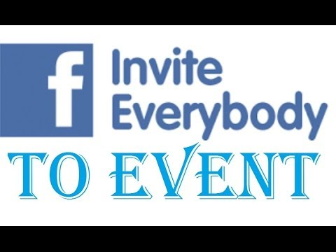 Invite All Friends To Facebook Event Youtube