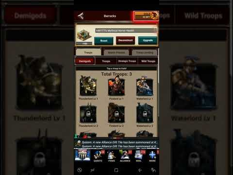 (Game of War) Demigod Troops!! *NEW* New Troops! How to Train them!