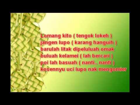 Lagu Solamet Hari Rayo ( Bahaso Rao ) Karya Mamak Asri Aziz