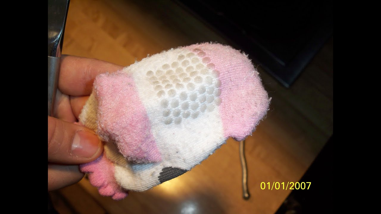 How To Make Nonslip Baby Socks Youtube