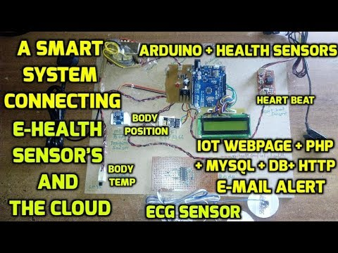 A Smart System connecting E-Health Sensor's and the Cloud