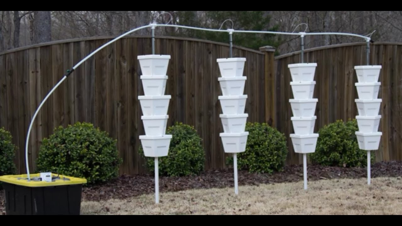 Vertical Hydroponic Diy 4 Tower Kit Installation Youtube