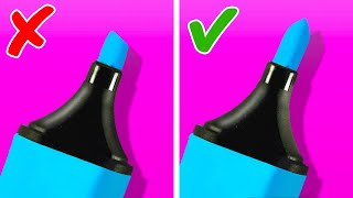WOW! Useful Stationery Hacks And DIY School Supplies You Need To Try