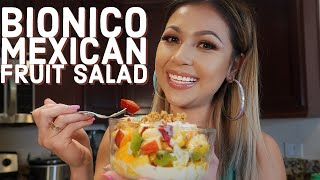 Mexican Street Food: Bionico (Fruit Salad with Cream)