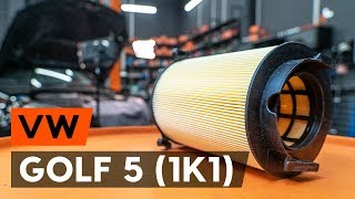 Ako a kedy meniť Vzduchový filter VW GOLF V (1K1): video sprievodca