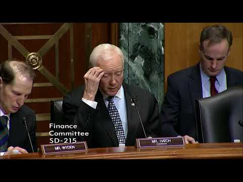 Hatch Opening Statement at Finance Committee Hearing on International Tax Reform