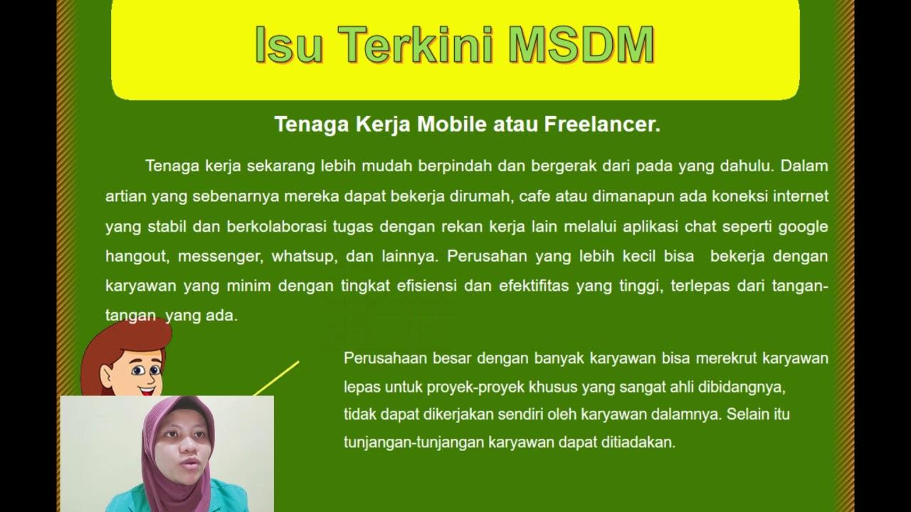 Isu Manajemen Sumber Daya Manusia MSDM   YouTube
