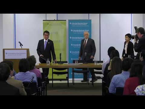 Japan's New Foreign Minister: A Dialogue with Columbia Students About Diplomacy