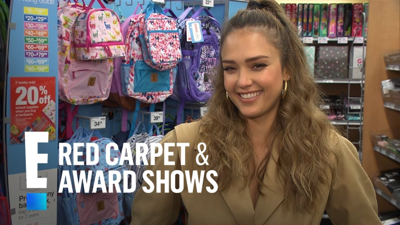 Jessica Alba Wants to Help With Back to School Shopping | E! Live from the Red Carpet