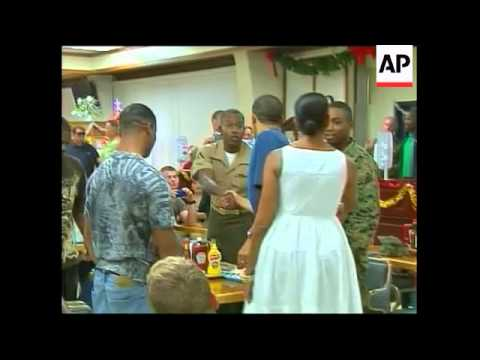 President, First Lady meet locals, soldiers on Xmas Day