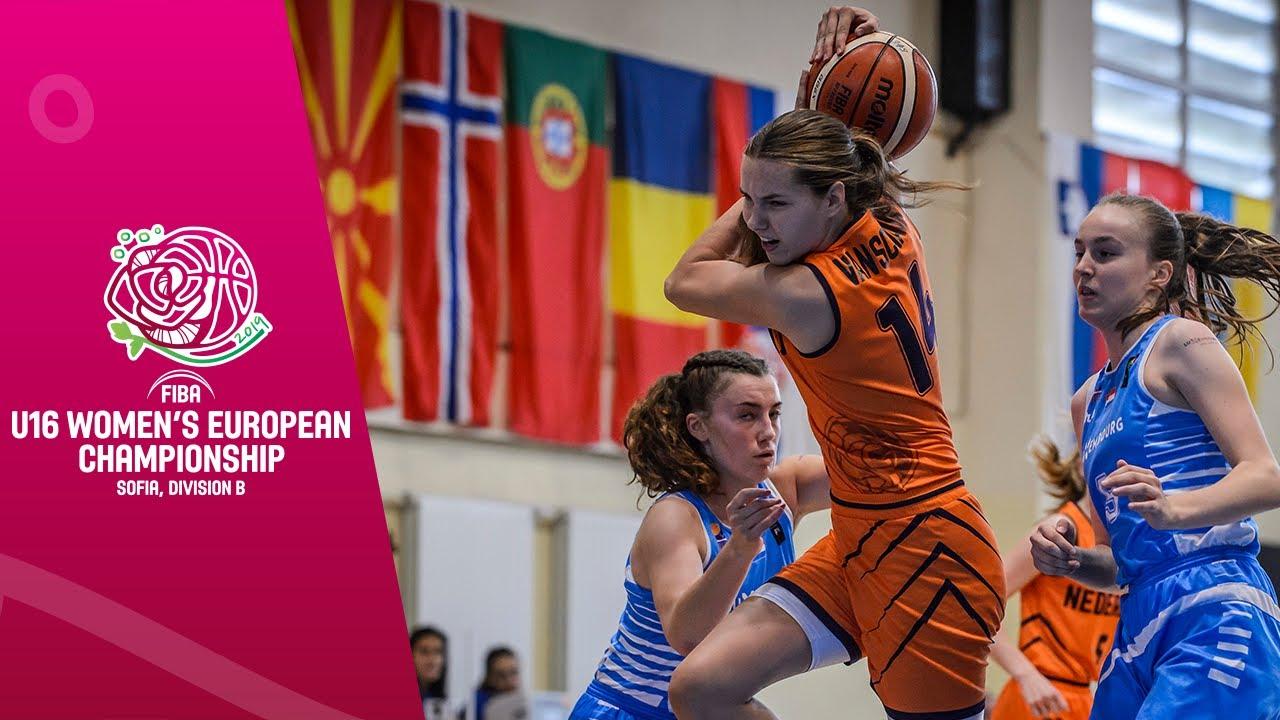 Netherlands v Luxembourg - Full Game - FIBA U16 Women's European Championship Division B 2019