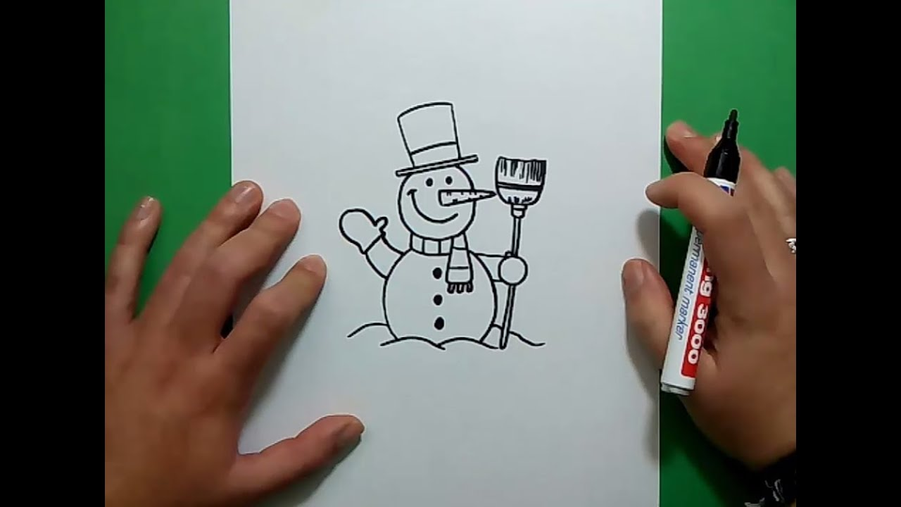Como dibujar un mu eco de nieve paso a paso 4 how to - Munecos de nieve para dibujar ...