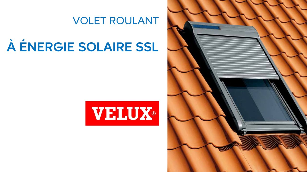 volet roulant solaire pour velux ssl 594263 castorama youtube. Black Bedroom Furniture Sets. Home Design Ideas