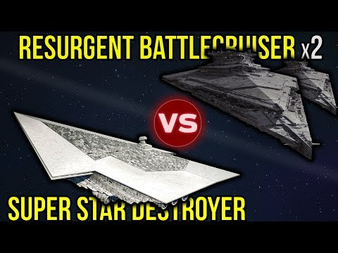 Executor Super Star Destroyer vs 2 Resurgent Battlecruisers | Star Wars Who Would Win