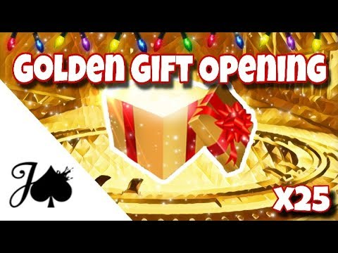 OPENING 25 NEW GOLDEN GIFTS ON ROCKET LEAGUE thumbnail