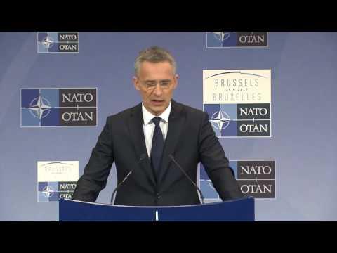 NATO Secretary General final press conference at Meeting of NATO leaders, 25 MAY 2017
