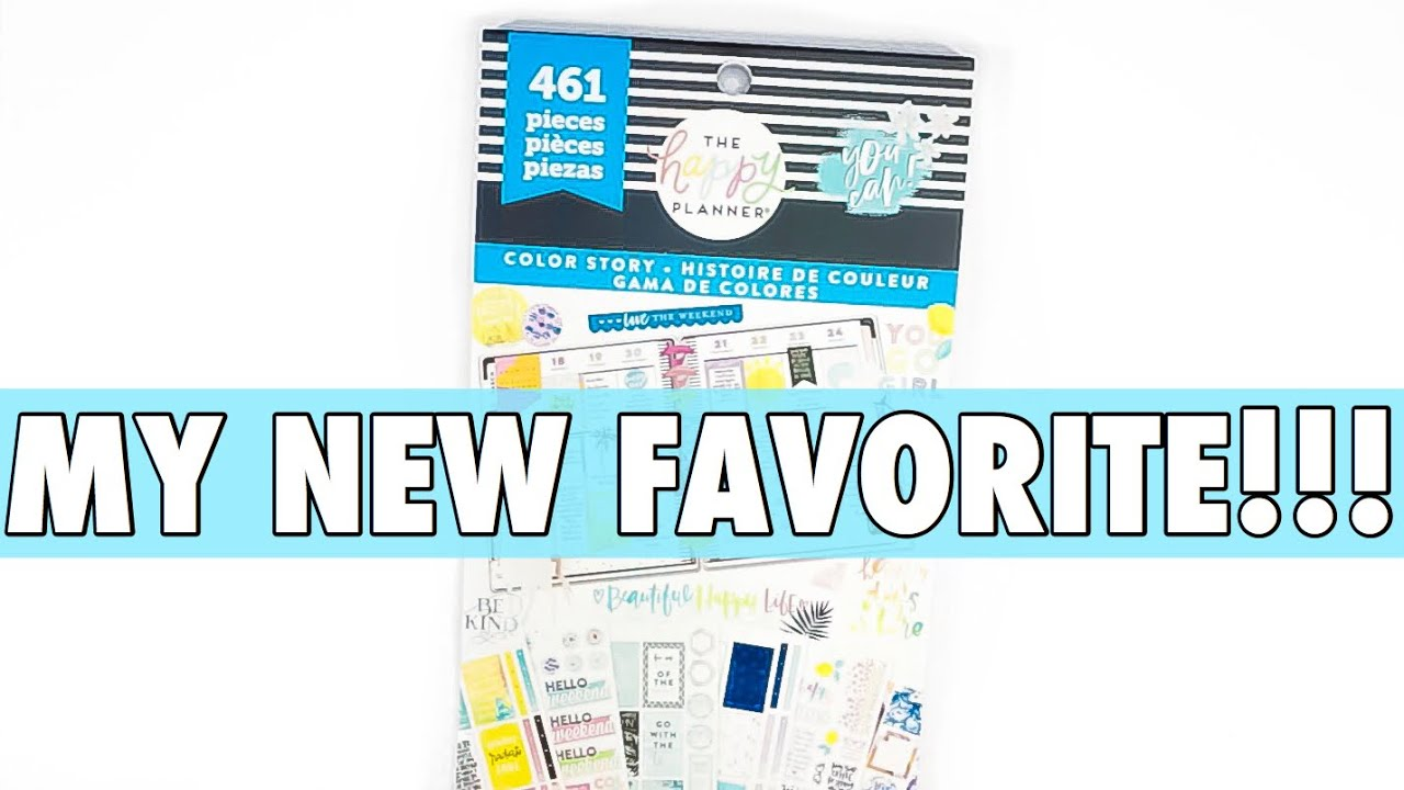 NEW RELEASE HAPPY PLANNER COLOR STORY STICKER PACKS FLIP THROUGH | PLANNER  ACCESSORIES HAUL