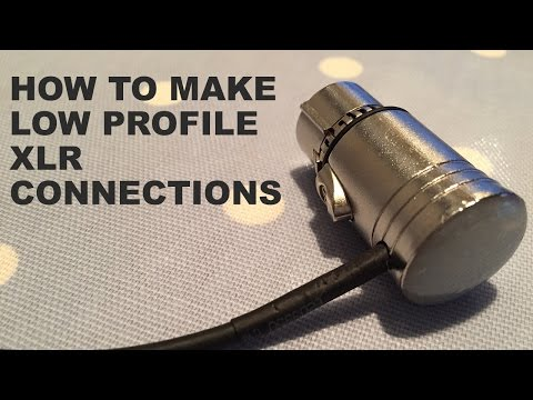 How to make DIY Low Profile XLR