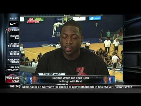 Dwyane Wade & Chris Bosh Miami Heat Interview