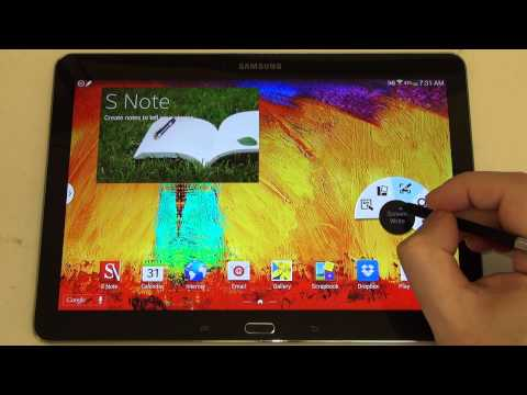 Samsung Galaxy Note 10.1 2014 Edition S-Pen Demo