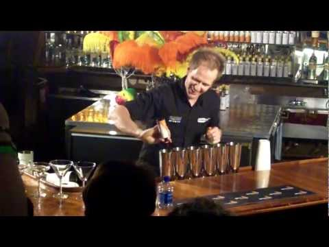 Flair Bartending Demonstration at Angostura Global Cocktail Challenge