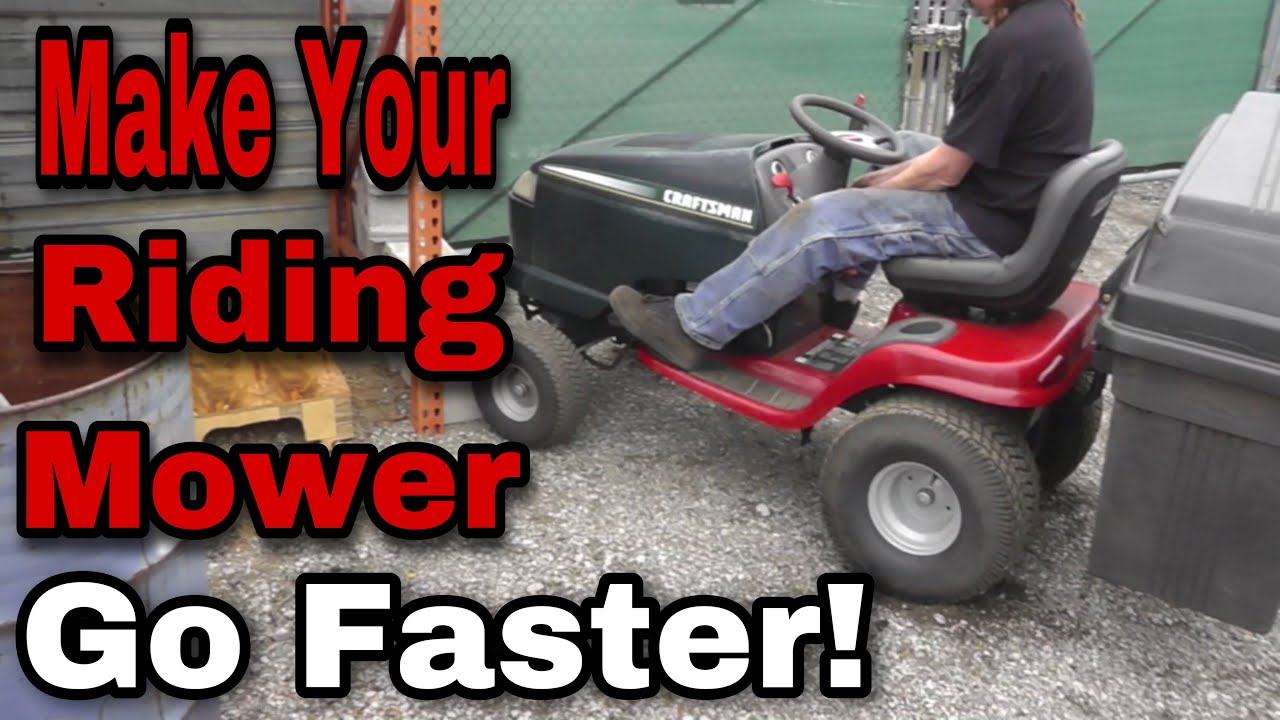 How To Make Your Craftsman Hydrostatic Lawn Mower Go Faster with Taryl