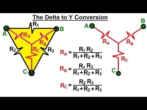 Electrical Engineering: Basic Laws (20 of 28) What is The Delta to Y Conversion?
