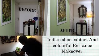 Shoe Rack & Indian Small Entry Way Organization