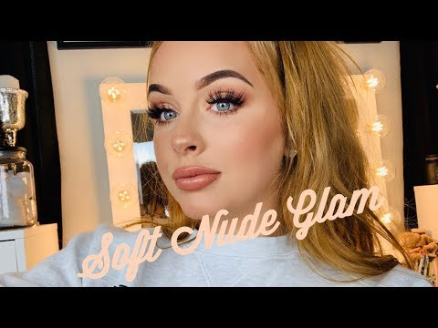 SOFT NUDE GLAM | chill makeup tutorial thumbnail