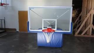 First Team Hurricane™ Portable Basketball Goal - Folded Walkaround Demo
