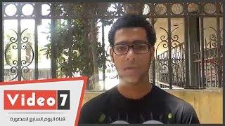 """الطالب يوسف فتحى لوزير التعليم:""""المراقب جاب ورقة من الحمام وعملى محضر غش"""""""