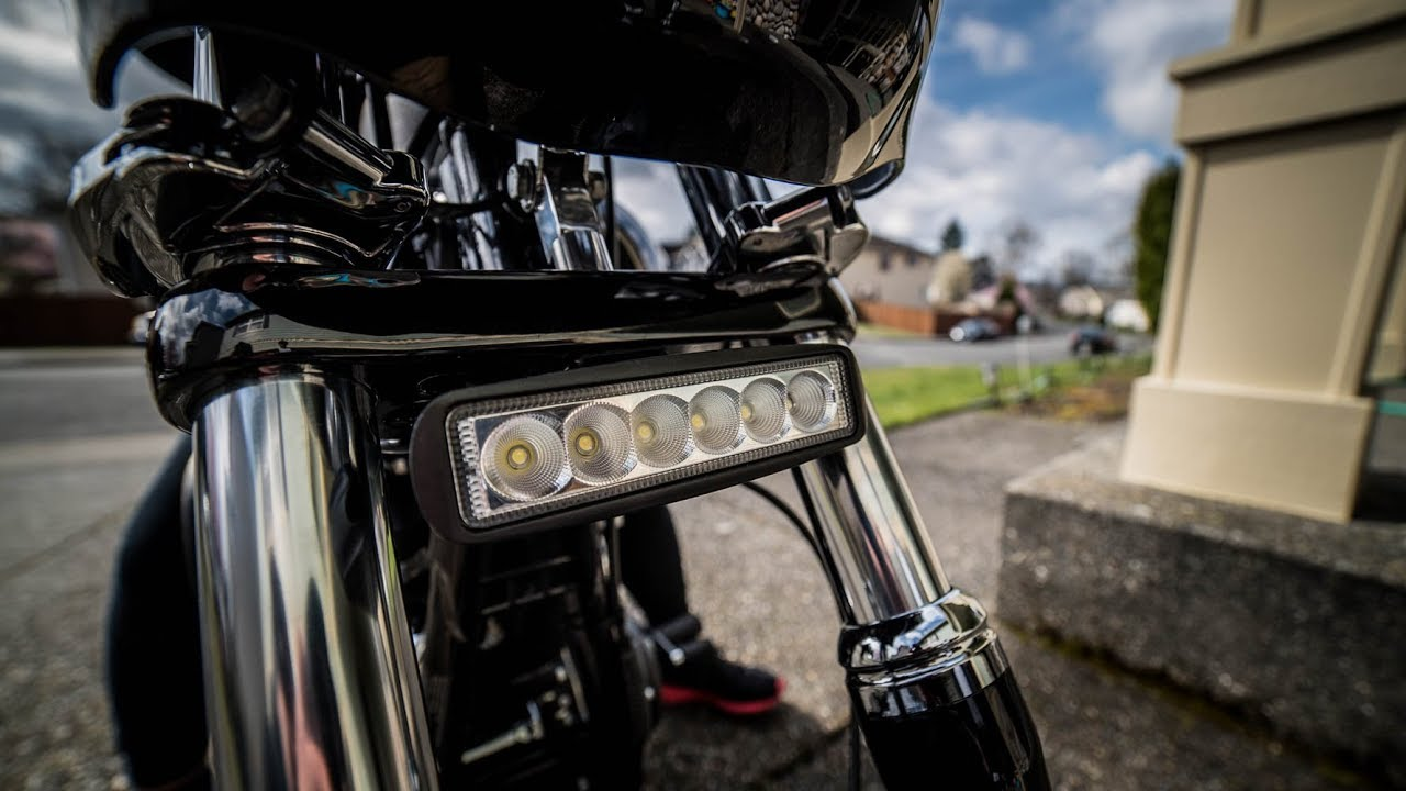 How to install MoonRays LED Bar on your Harley Harley Light Bar Wiring Diagram on