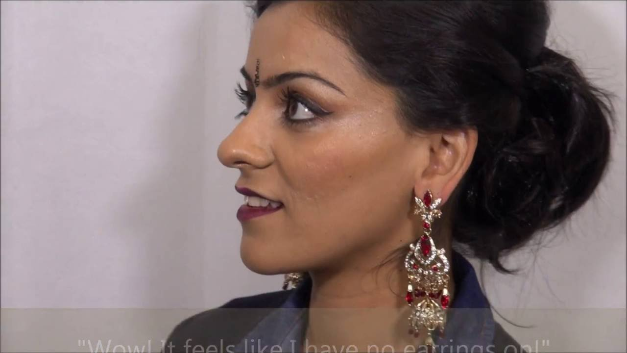 How to wear heavy earrings secure and comfortable. - YouTube