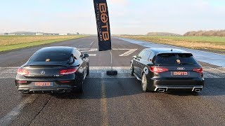 DRAG RACE! MERCEDES-AMG C63 VS AUDI RS3!