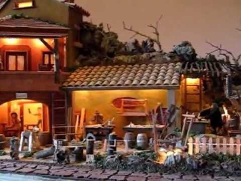 Presepe napoletano casa del falegname youtube - Presepe in casa ...