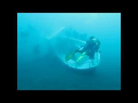 Sunken diving boat salvage operation