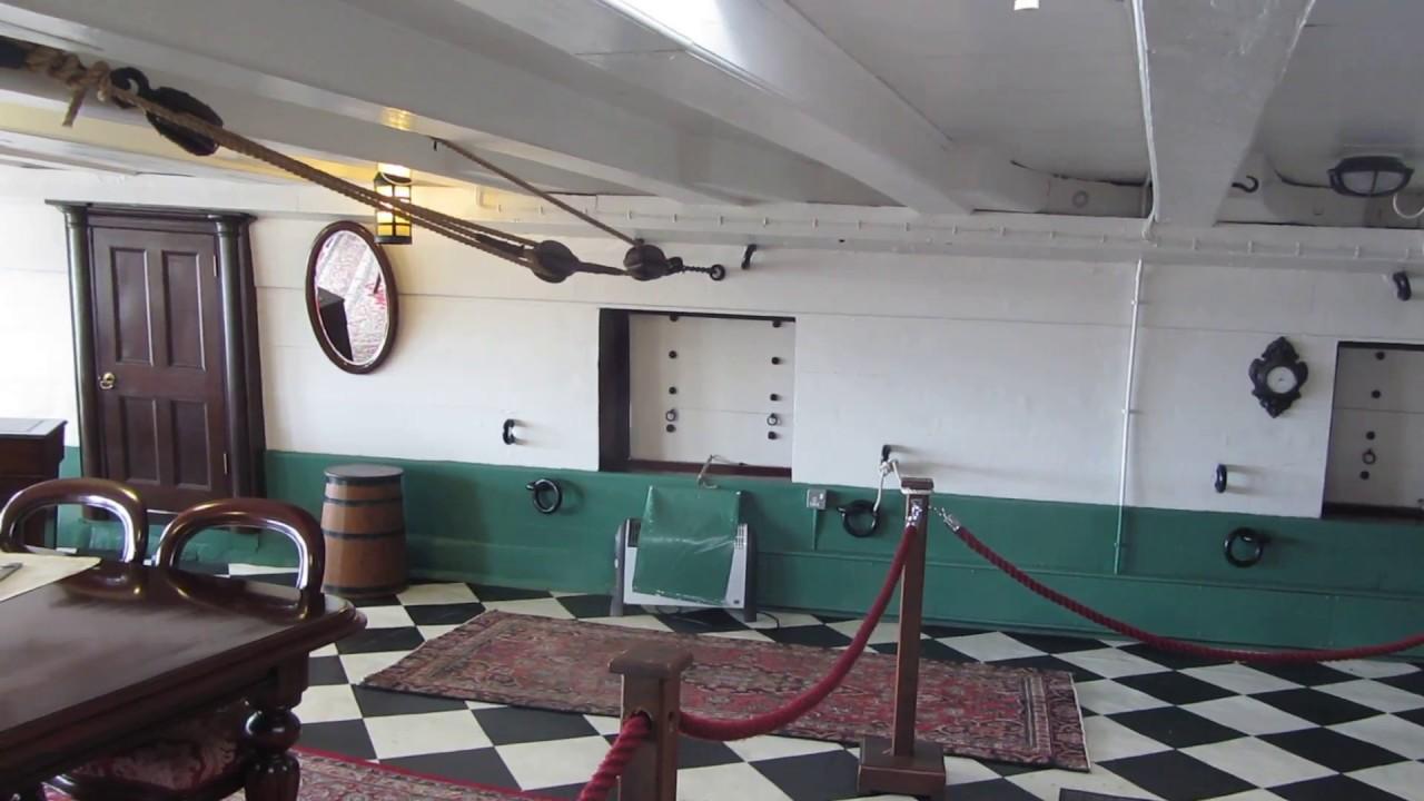 HMS Trincomalee Captain's Cabin and Gun Deck - YouTube