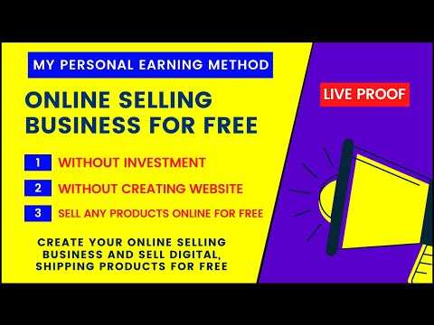 Sell Shipping, Digital Products Online For Free | Start Your Online Selling Business With Investment