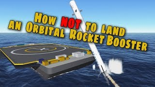 SpaceX Falcon Heavy - How Not to Land an Orbital Rocket Booster