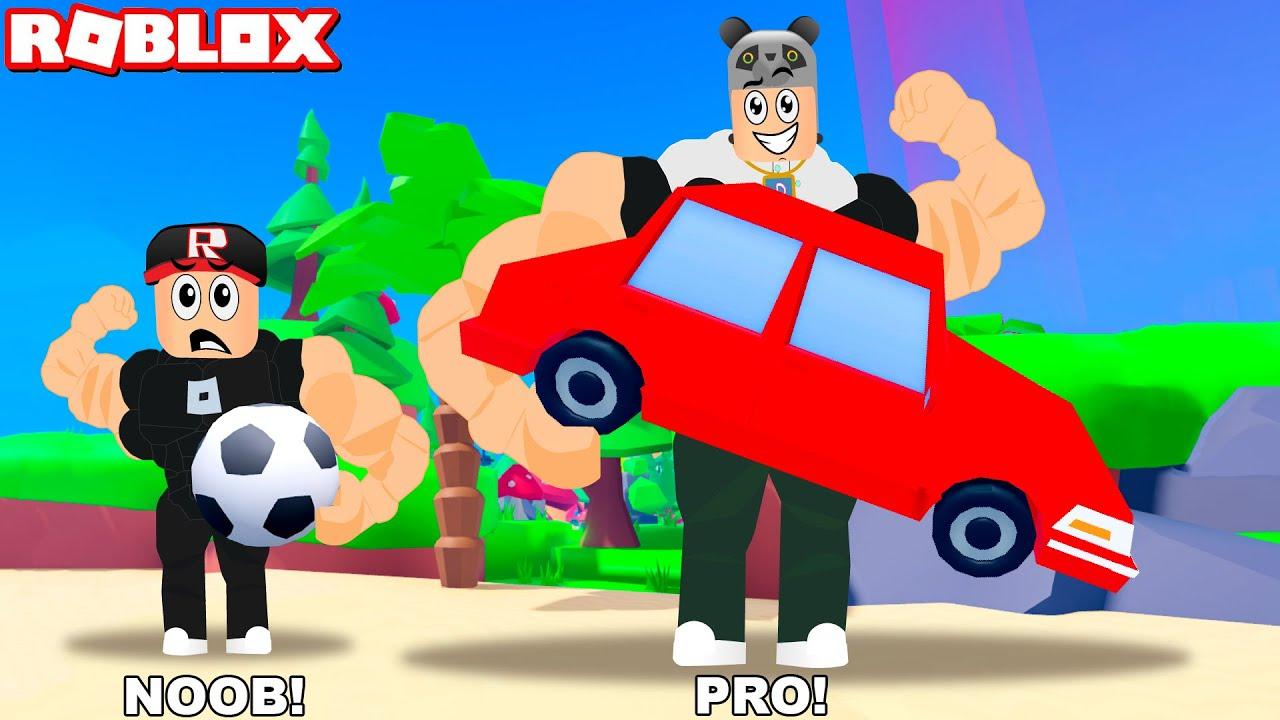 Güçlen ve Ağır Eşyalar Çek!! - Panda ile Roblox Strongman Simulator