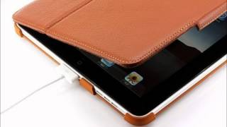 ipad case bear motion slim genuine leather case folio with 4 in 1 built in stand