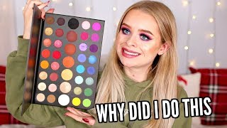 FULL FACE USING ONLY ONE EYESHADOW PALETTE.. RIP TO MY SKIN | sophdoesnails