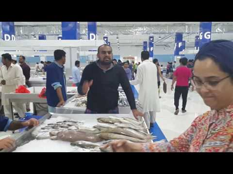 Visiting the New Fish Waterfront Market in Dubai 07.07.2017