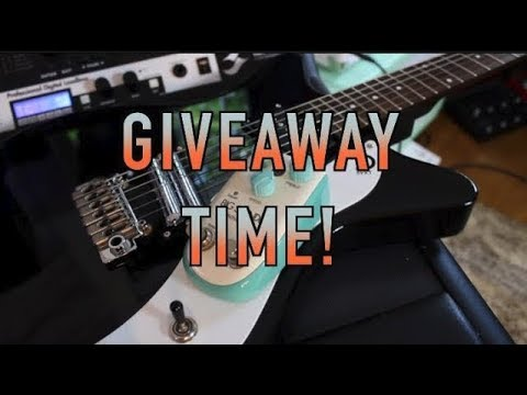 Guitar Giveaway ends tonight !!!