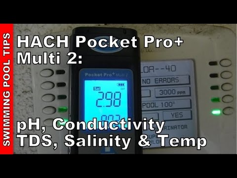 HACH® Pocket Pocket Pro+ Multi 2 Tester for pH/Cond/TDS/Salinity