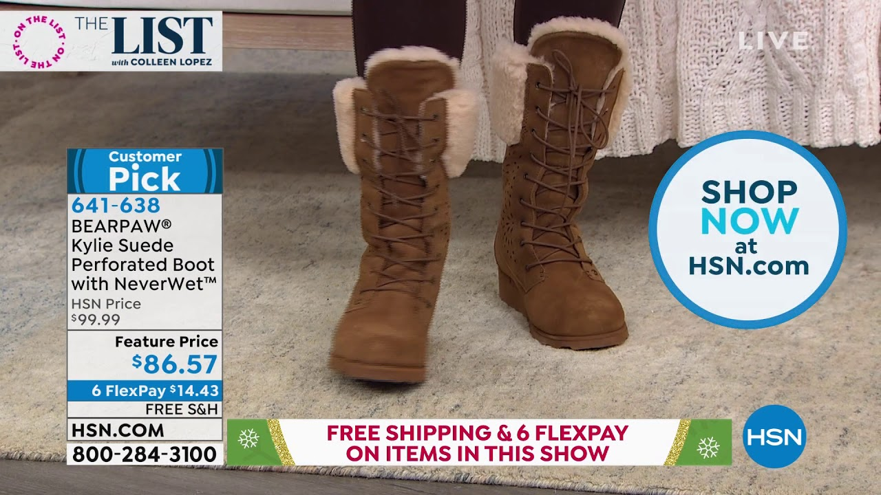 BEARPAW Kylie Suede Perforated Boot